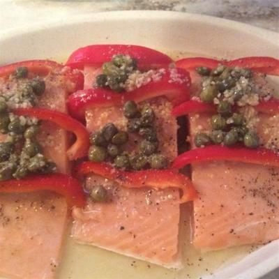 pimiento y salmón limón