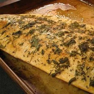 salmón con hierbas
