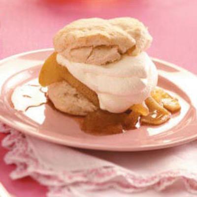 tortitas de manzana crema