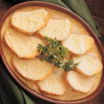 Cazuela de cebolla con queso