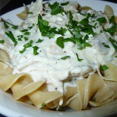 cocina lenta de pollo italiano alfredo