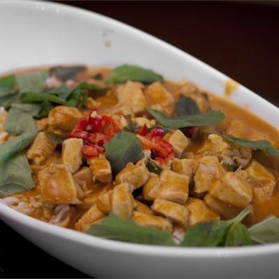 panang de curry con pollo