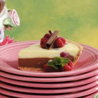 pastel de queso de dos tonos