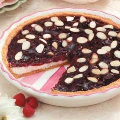 tarta de brisa de frambuesa