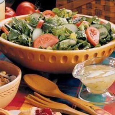 Ensalada mixta con vinagreta de lima