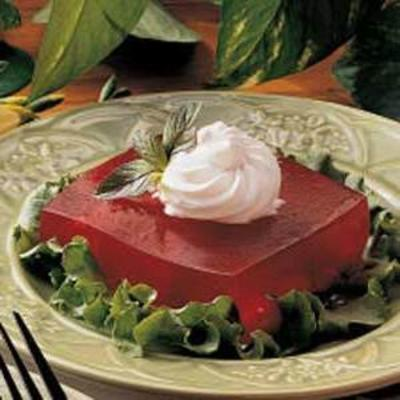 cuadrados de gelatina de cereza