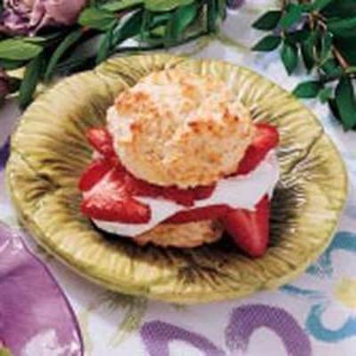 pastel de galletas de fresa