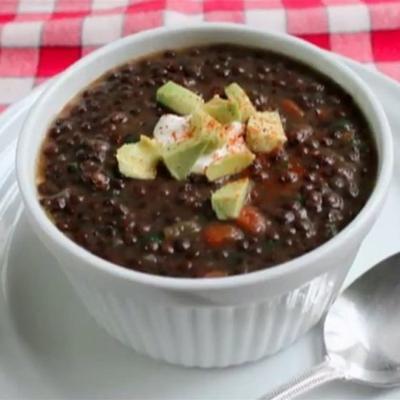 sopa de lentejas negras del chef john