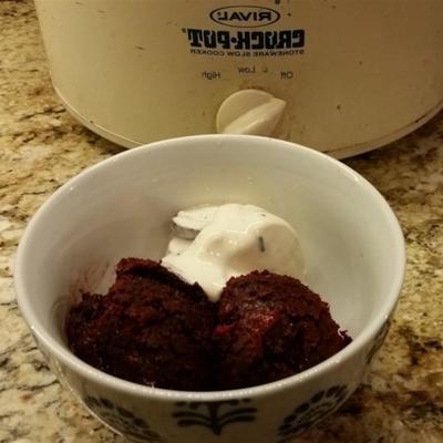 pastel de chocolate cereza cocción lenta