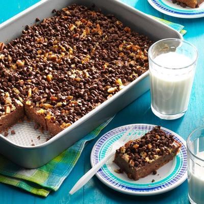 pastel de chocolate con calabacitas