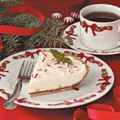pastel de menta de chocolate blanco