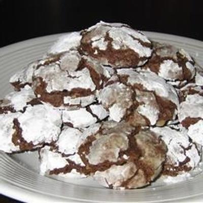 Galletas crujientes de chocolate con azúcar moreno