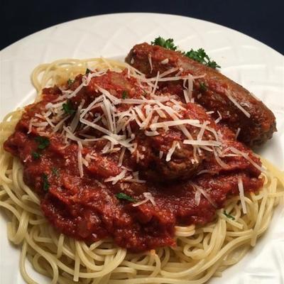 salsa de espagueti con carne