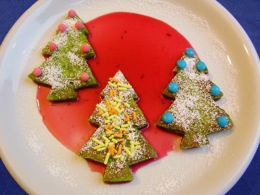 tostadas del árbol de Navidad