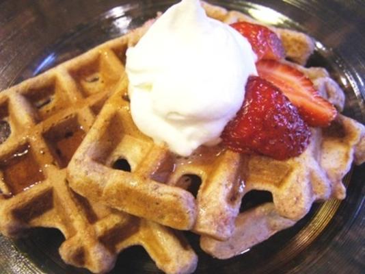 bien por ti waffles de fresa