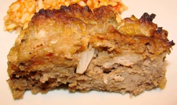 Pastel de carne con salsa de manzana alemana