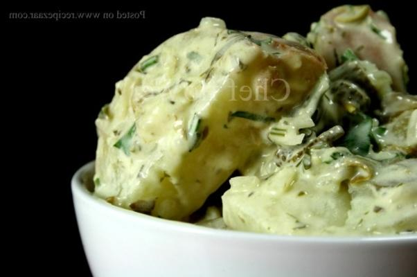 ensalada de papa verde salsa