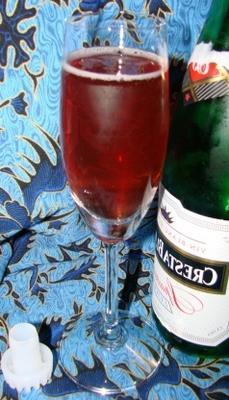 cóctel de arándanos kir champagne