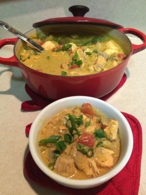 pescado al curry fácil de coco