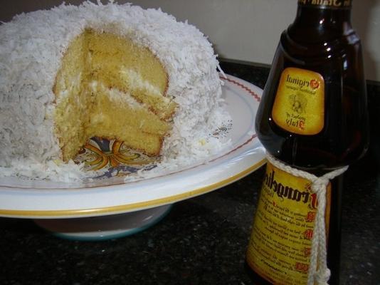 pastel de coco frangelico