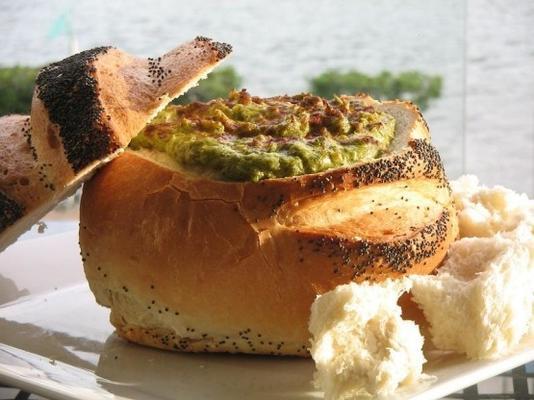 Alcachofas Calientes, Espinacas Y Dip De Bacon