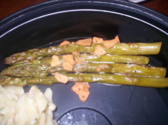 Espárragos al horno cremosos fáciles (sin gluten)