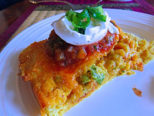 Desayuno mexicano cassserole (horno o olla de cocción lenta)