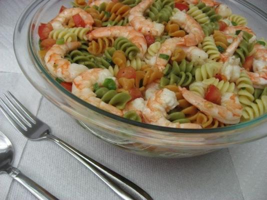 Ensalada fácil de pasta de camarones