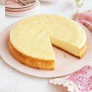 Pastel de queso cítrico triple