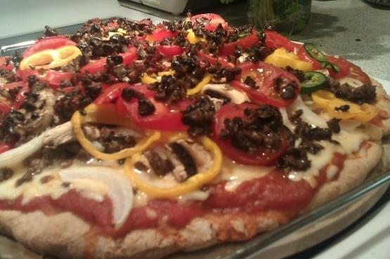Corteza de pizza deletreada (sin trigo)