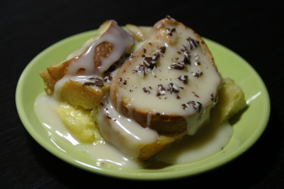 Budín de pan de chocolate blanco de don
