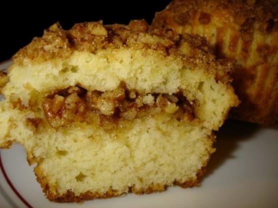Muffins de crema agria de nuez y nuez