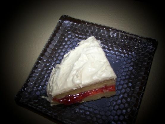 Tarta de crema de almendra crema fácil