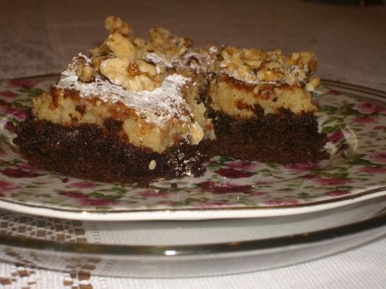 Brownies de queso crema de chocolate alemán