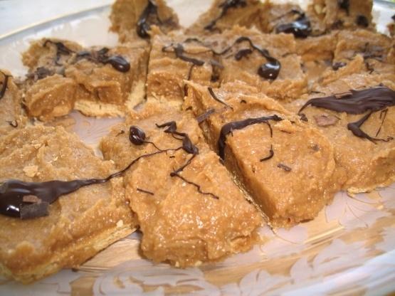 Cuadrados de graham con mantequilla de maní y llovizna de chocolate oscuro