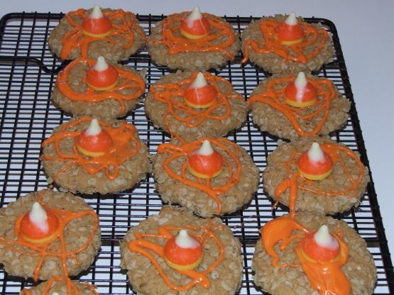 Besos dulces de maíz otoño galletas